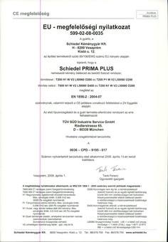 Schiedel Primaplus kémény szerelési útmutató