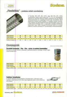 Schiedel Tecnoflex kémény béléscső prospektus